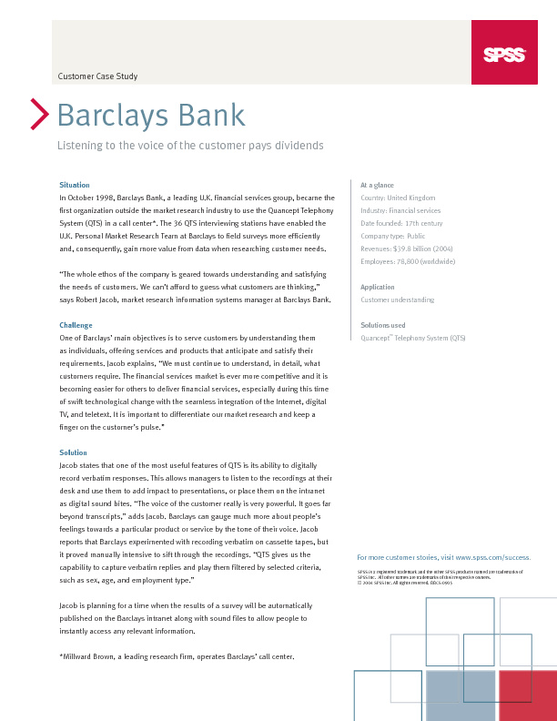 """case study on barclays bank As a new marketing associate with barclays bank banking on ethics"""" case study: case study is below 2 learn how to write a critical essay."""