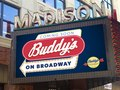 Signage for Buddy's new flagship location in downtown Detroit.