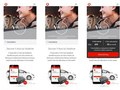 Mobile layouts for V-Auto e-commerce site, part of the V by Vodafone website.