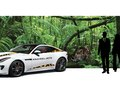 "A proposal for Jaguar USA, I designed the livery to bring awareness to jaguar conservation. Our proposal included a jungle-themed backdrop with a Jaguar F-TYPE in spotted print graphics for display at a vehicle launch program in Sedona, Arizona, where, at the time, ""El Jefe"" (the only wild jaguar spotted in North America) was a hot topic in the news."