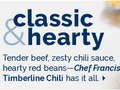 Kraft Heinz Foodservice Canada | Email Brand Banner for Timberline Chili